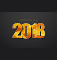 background 2018 happy new year golden polygonal vector image