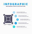 base center connection data hub infographics vector image