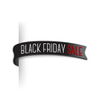 Black friday sale badge for page edge Transparent vector image