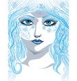Blue winter girl vector image vector image