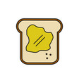 breakfast bread food thin line icon vector image