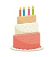 cake birthday candle vector image vector image
