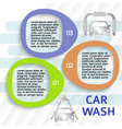 car service carwash flyer ads page background vector image vector image