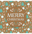 christmas background with wooden texture vector image