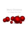 Christmas balls on a white background vector image vector image