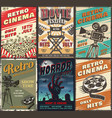 cinema set of posters vector image