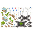 city road isometric 3d vector image