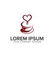 coffee love logo design concept template vector image