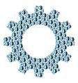 cog mosaic of cyborg head icons vector image