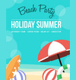 collection summer day poster style vector image vector image