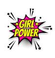 comic text girl power speech bubble pop art vector image vector image
