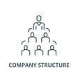 company structure line icon linear concept vector image vector image