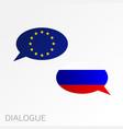 conversation dialogue eu - rus vector image vector image