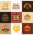 Creative bakery logos and banners vector image vector image