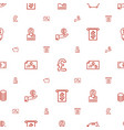 currency icons pattern seamless white background vector image vector image
