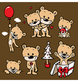 cute bear family cartoon vector image