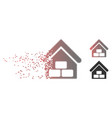 decomposed pixel halftone warehouse icon vector image vector image