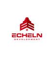 ee building logo vector image vector image