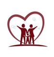 family love logo design vector image vector image