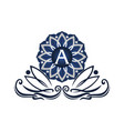 flower elegant icon initial a vector image vector image