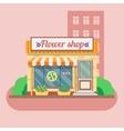 Flower shop facade vector image vector image