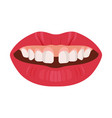gap teeth concept dental tooth problem and vector image