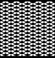 geometric fish scales chinese seamless pattern vector image vector image