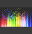 gleam lights in rainbow colors on black background vector image vector image