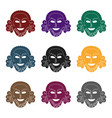 greek antique mask icon in black style isolated on vector image vector image