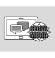 hand drawing bubble speech social media mobile vector image vector image