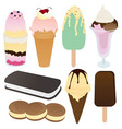 Icecream Collection Set vector image vector image
