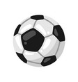 icon soccer ball in flat style vector image vector image