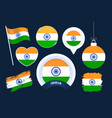 india flag collection big set national flag vector image
