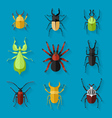 Insects icon set vector image vector image