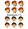 kids showing different facial expressions vector image vector image