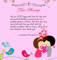 Letterhead valentines pink vector image vector image