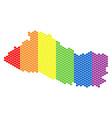 lgbt spectrum dot el salvador map vector image