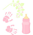 little lady baby shower related items collection vector image vector image