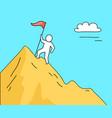 man climbing high mountain on vector image vector image