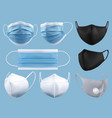 medical mask surgical mask virus and infection vector image