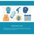menstruation pain concept banner in flat style vector image vector image