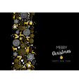Merry christmas happy new year gold pattern retro vector image vector image