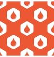Orange hexagon water drop pattern vector image vector image