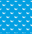 origami swan pattern seamless blue vector image