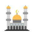 ornament islamic mosque building design vector image vector image