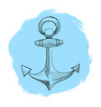 painted anchor in the style of mascara and pen vector image
