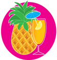 pineapple cocktail vector image