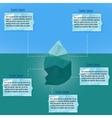 polygonal iceberg infographics vector image