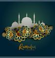 ramadan kareem islamic greeting background vector image