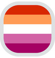 rounded square with flag pride lgbt vector image